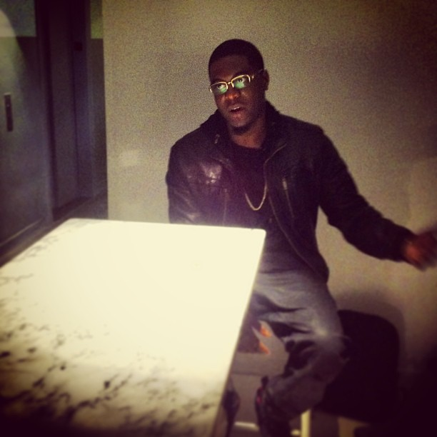 At the table with @bigkrit. There are few artists and people I respect more than this man.