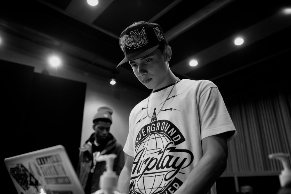 @NyckCaution in the stu… Shot by @jFlei