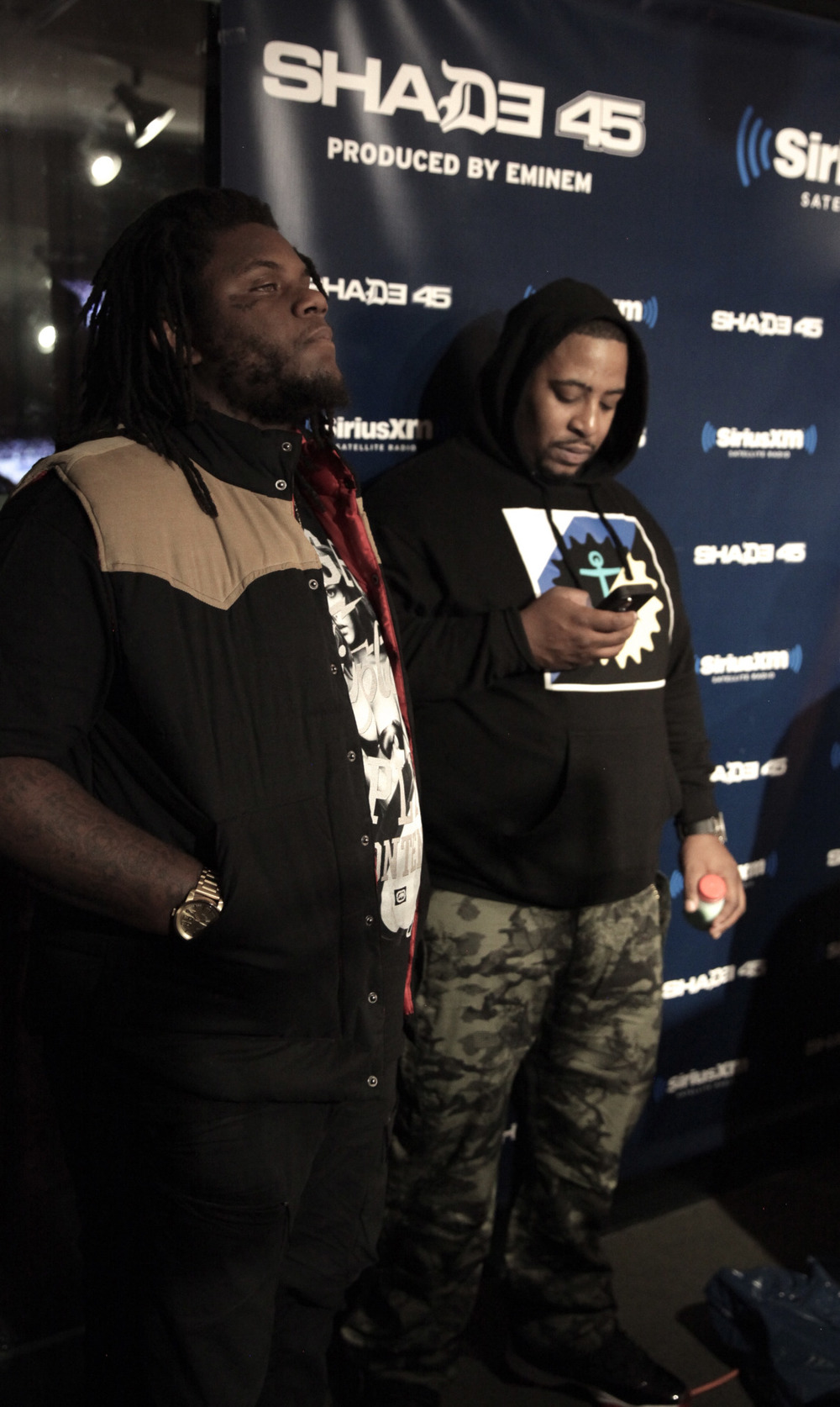 @FatTrel  spits  on @Shade45…   Shot by  @jFlei