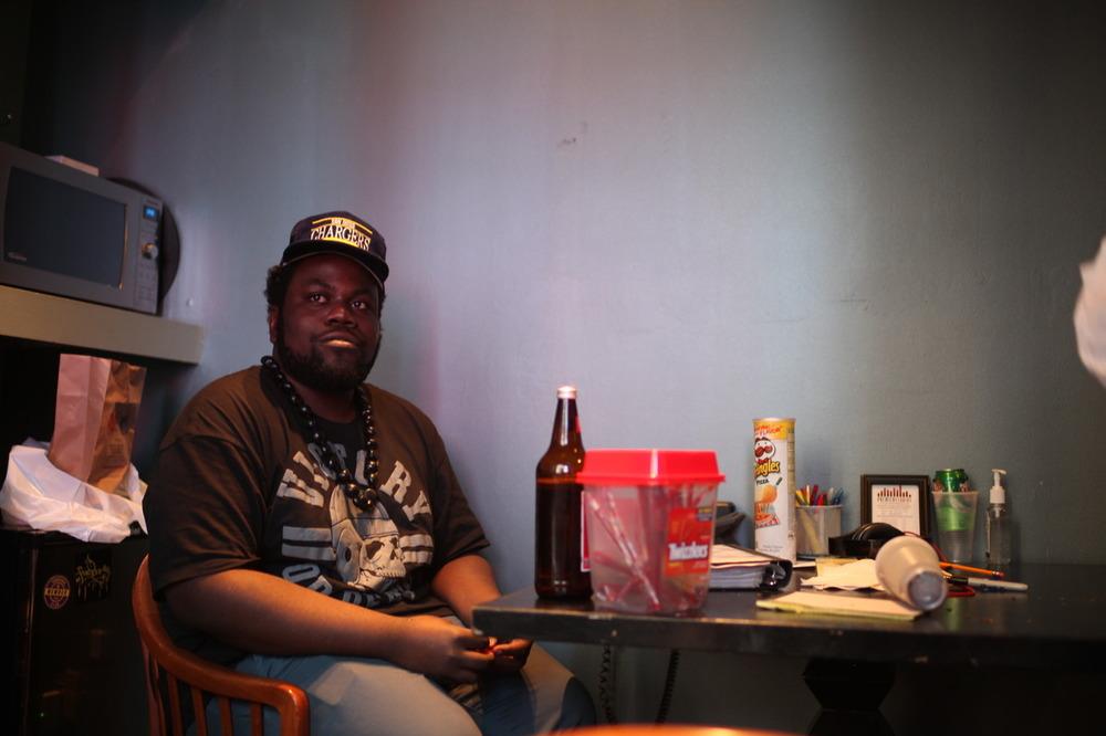 Pro Era's @Chuck_Strangers @ the Eckō Studios bullshitting.    Shot by  @jFlei