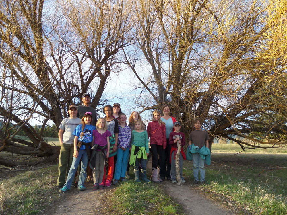 Students and teachers of the Ovando School on their overnight field trip to Upsata Lake.