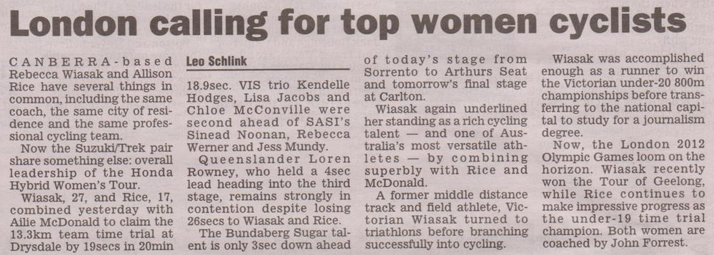 Herald Sun 15 October 2011