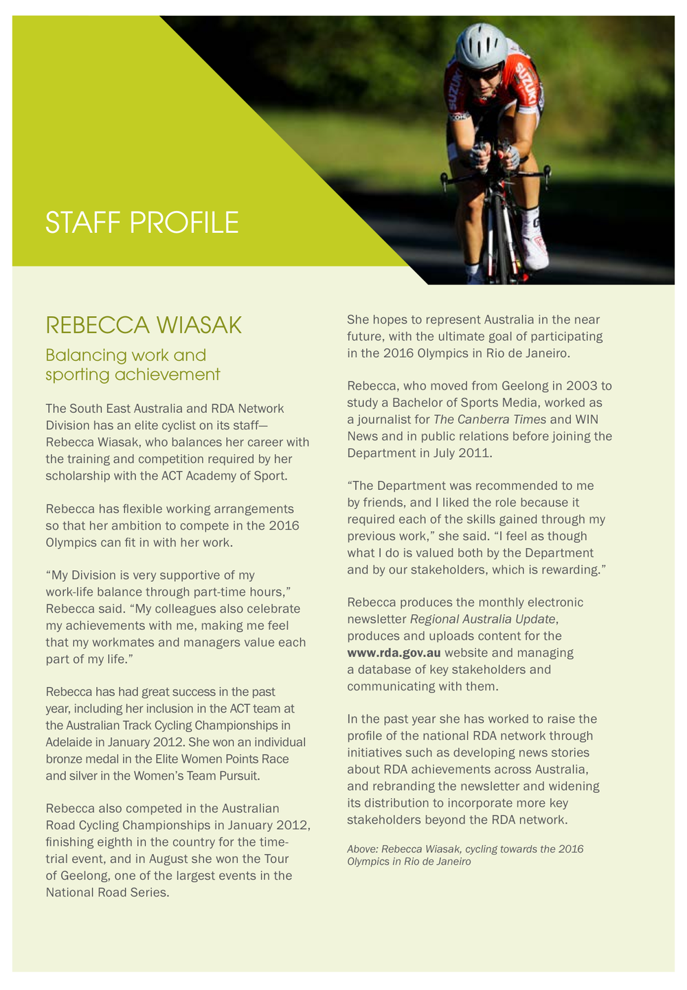 Staff Profile: Annual Report 2011-12 Department of Regional Australia, Local Government, Arts and Sport
