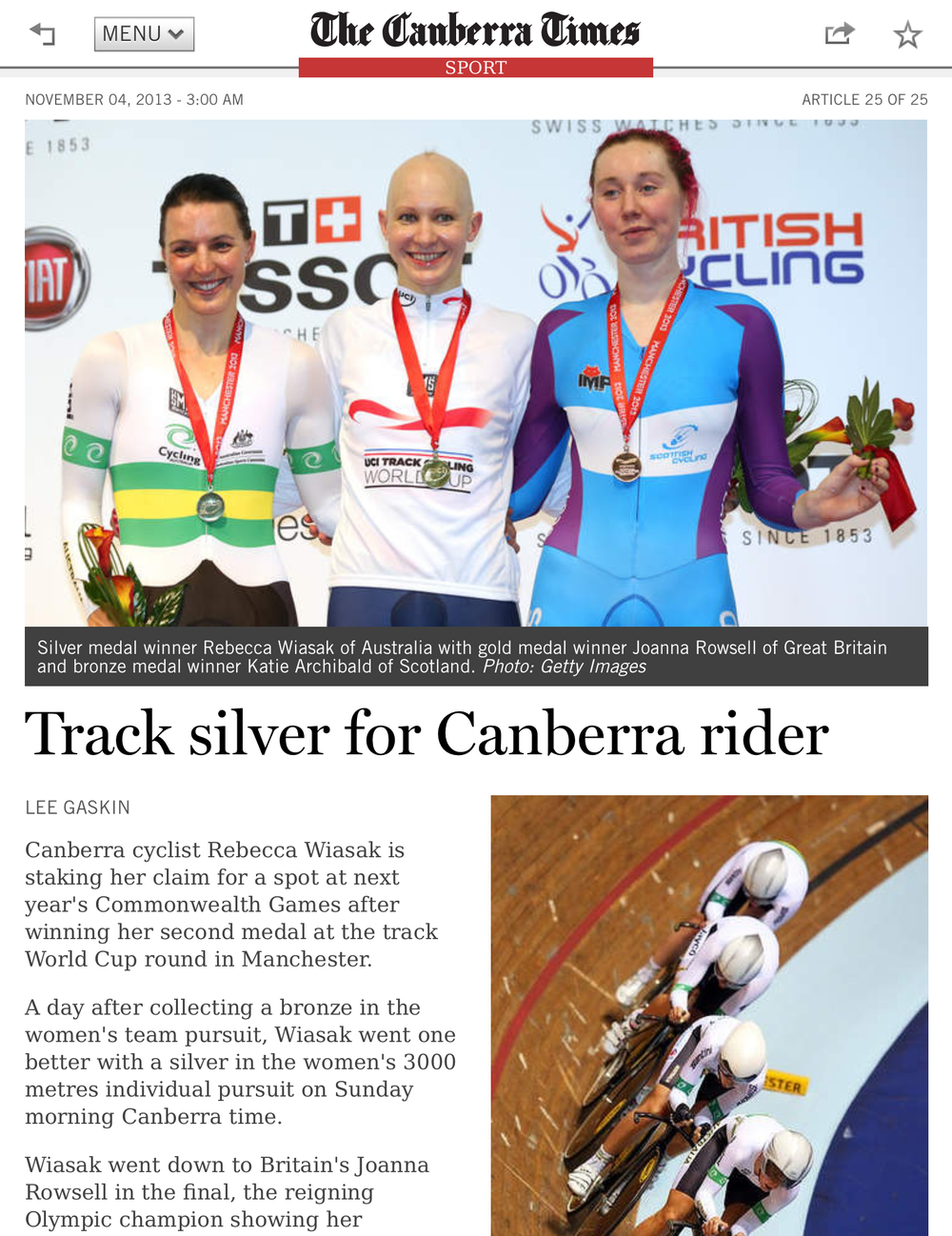 The Canberra Times 4 November 2013