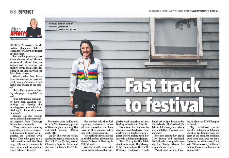 GEELONG ADVERTISER 28 February 2015