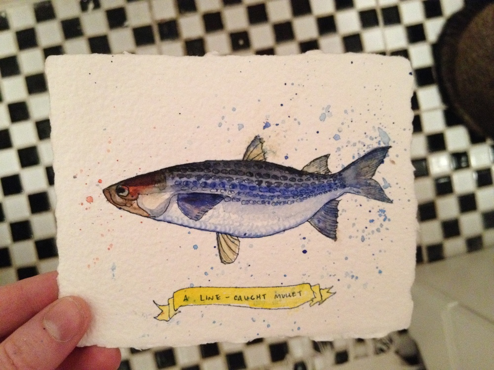 """For a friend. This is what we eat at Rehwinkel family reunions. Grandaddy mildly says of mullet """"I believe some people call it a trash fish, I don't know."""" It is good eatin'."""