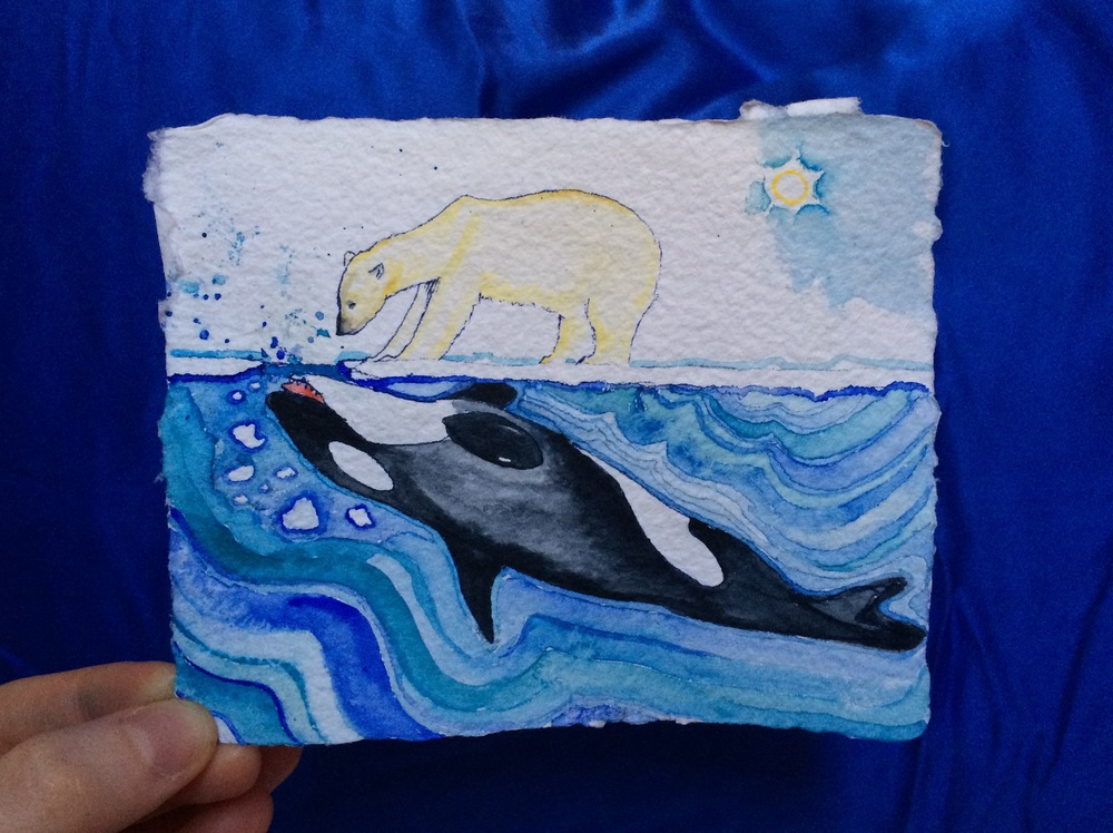 Mammalian Invitation to Play, or, #orca #polarbear #playordie #outofyourdepth
