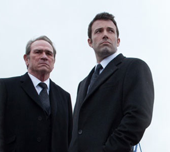 "Tommy Lee Jones & Ben Affleck in ""The Company Men"" movie."