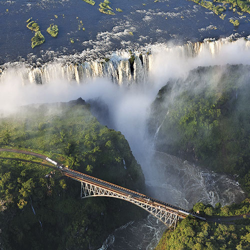 Victoria Falls, Zimbabwe. One of the 7 natural wonders of the world.