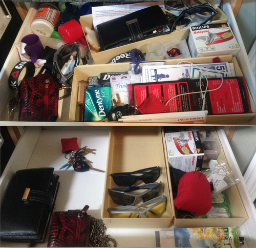 Before and after: kitchen junk drawer. Not much of a junk drawer anymore!