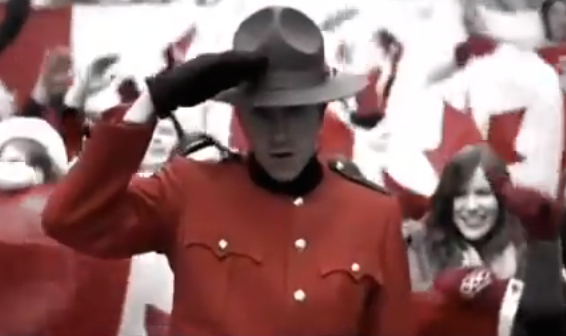 "Click this image for a fun YouTube video of the ""Oh...Canada"" song by the group Classified."