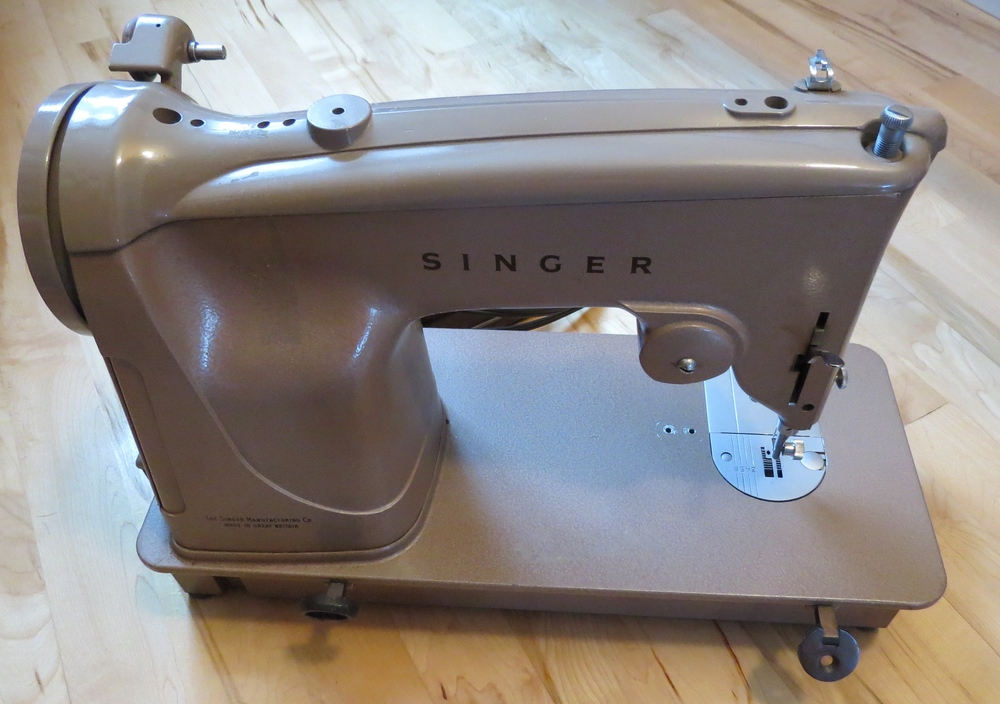 Grandmother's sewing machine, which I just received last week. I'm grateful to have it.