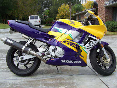 This is a picture of a CBR600F3. Mr. F2P helped me sell it some years ago. (Picture courtesy of www.tamparacing.com)