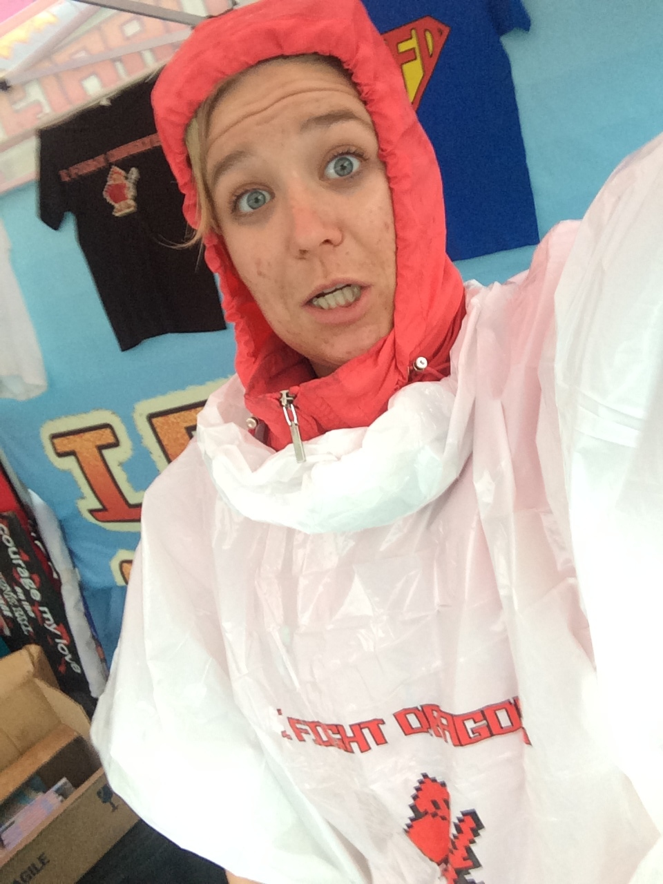me in my crazy weather getup. complete w/IFD poncho.