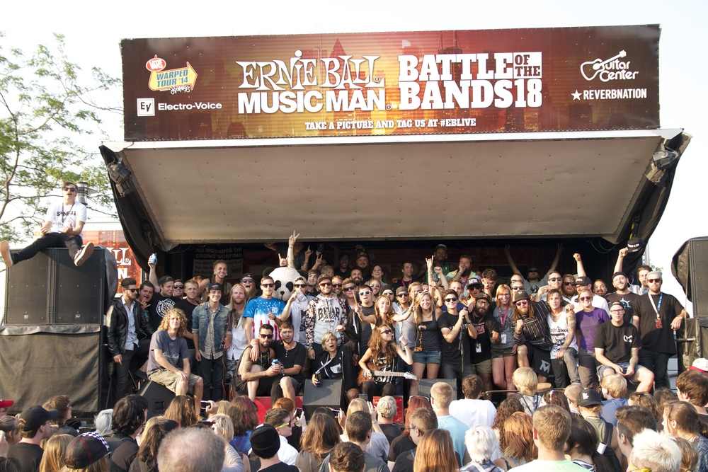 Ernie Ball Stage Family (bands, crew, stage crew) 2014.