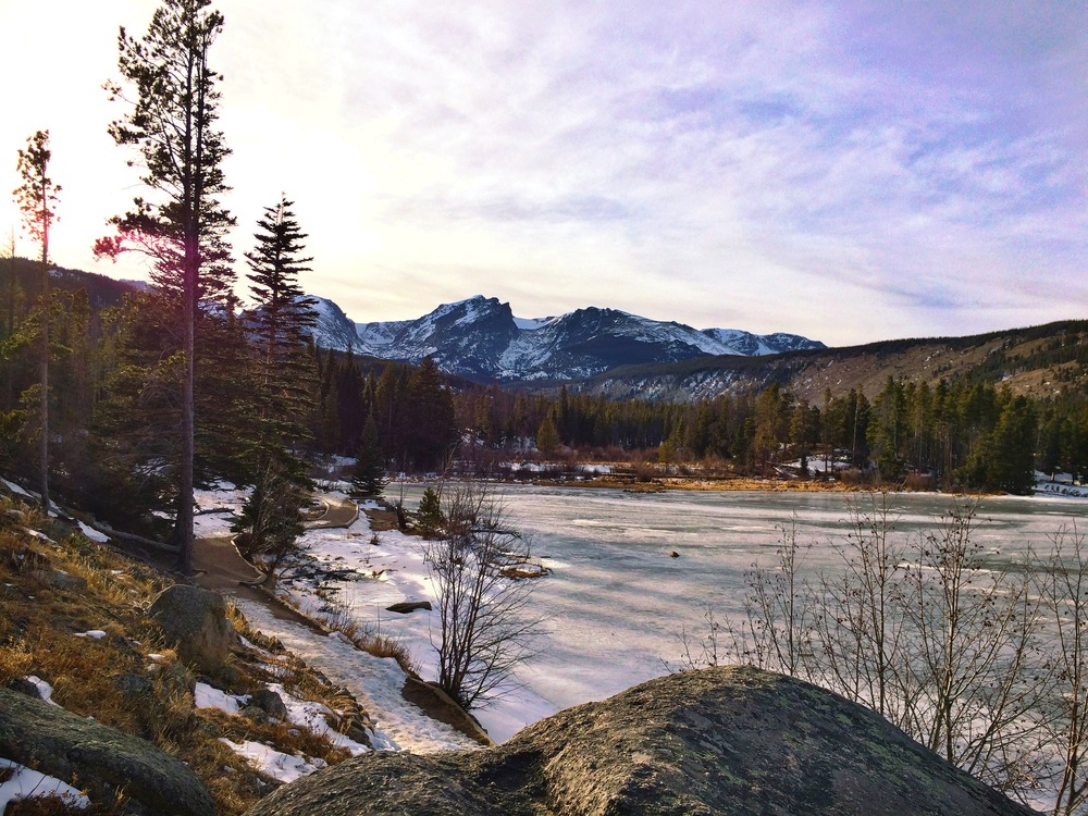beautiful, glorious Rocky Mountain National Park in the winter. The best.