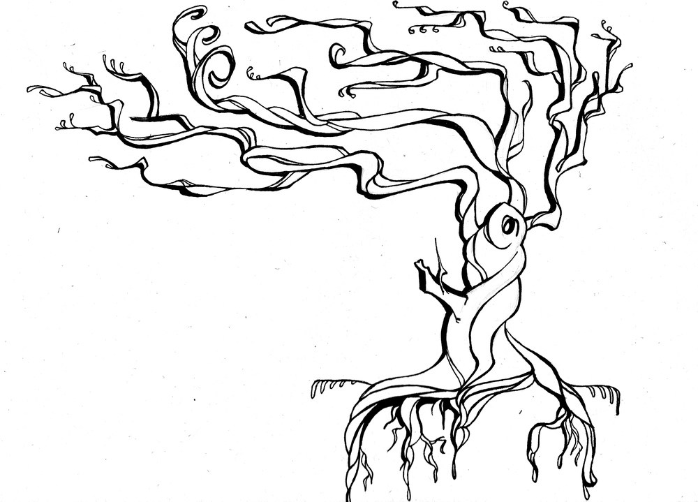 - Twistin' the night away tree shoulder tattoo -