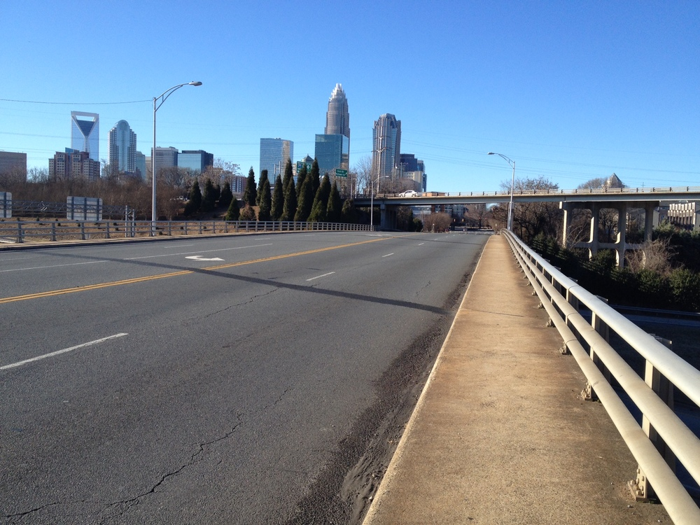 Before : 7th Street bridge. 5 lanes - turning to where? You might ask. Wide lanes.