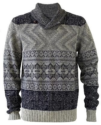NSF Beck Shawl Fair Isle Sweater