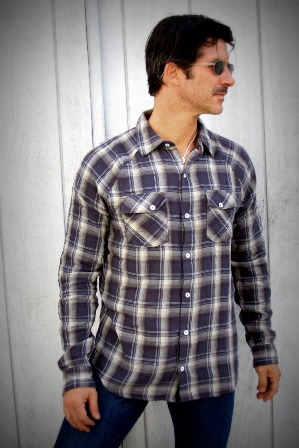 Steve Shirt- Blue Sky Plaid