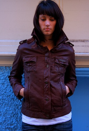 SuperDry.brownleather.Jacket