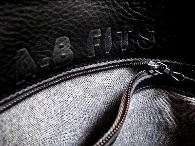 AB Fits Leather Book Tote - riri Zipper Pocket