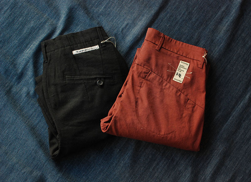 New fits and color from our favorite Italian brand, Novemb3r. They combine the best relaxed yet tailored look to chinos.