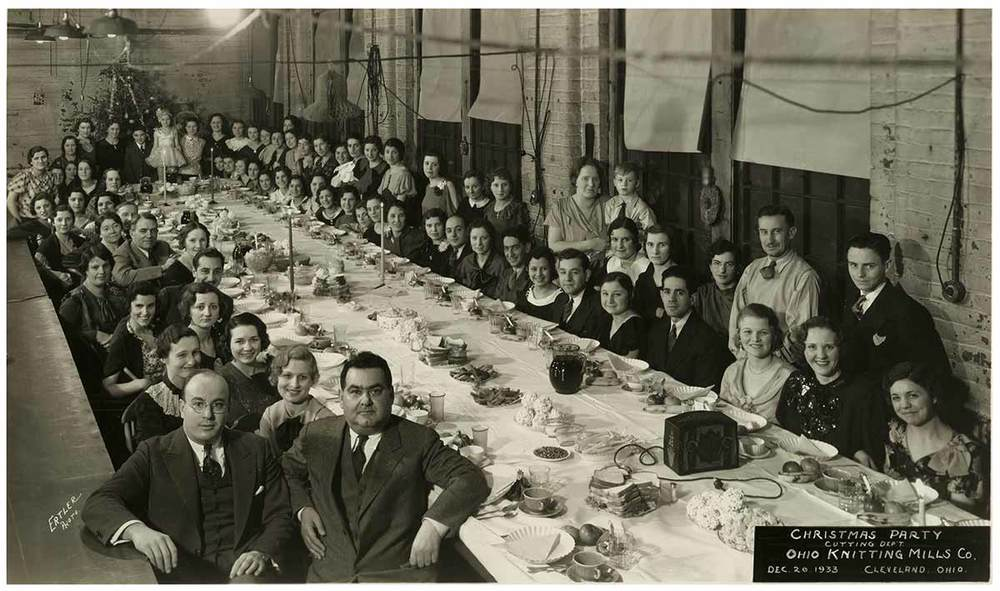 Ohio Knitting Mills Christmas Party, December 1933.