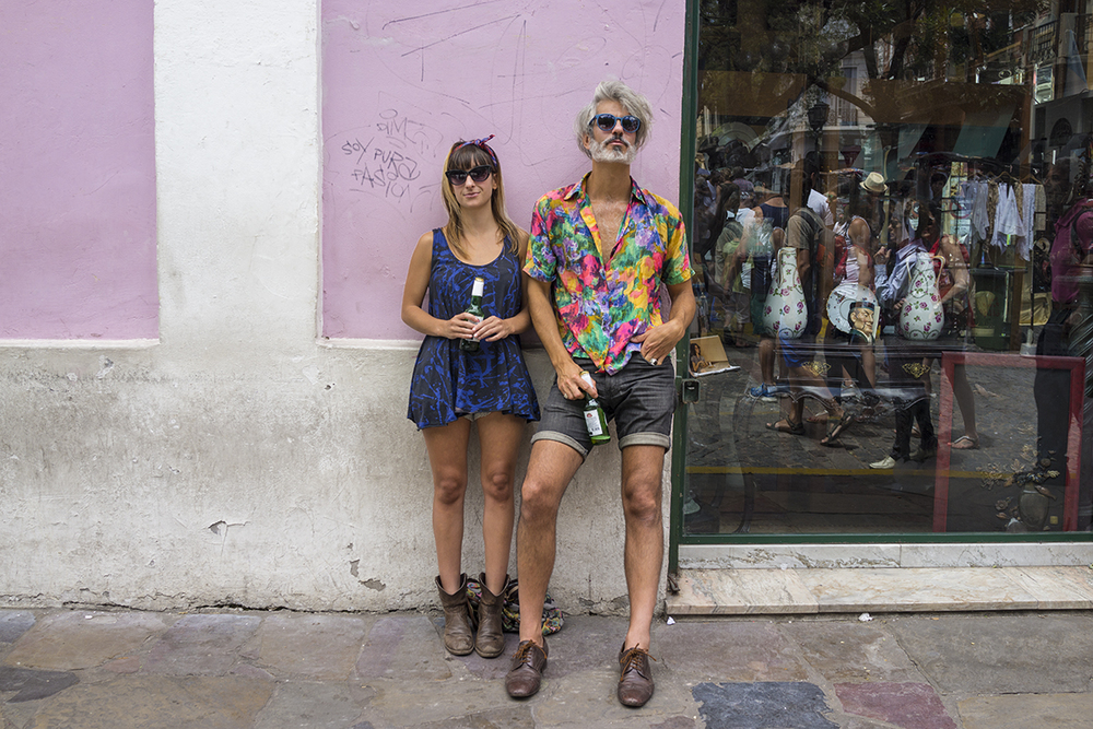 Gaston and Jessica at San Telmo. Buenos Aires, Argentina. January 2015.