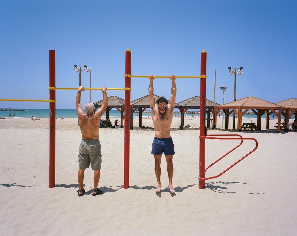 Roye at Frishman Beach | Tel-Aviv, Israel. July 2015 {Scanned 120mm color film negative}.