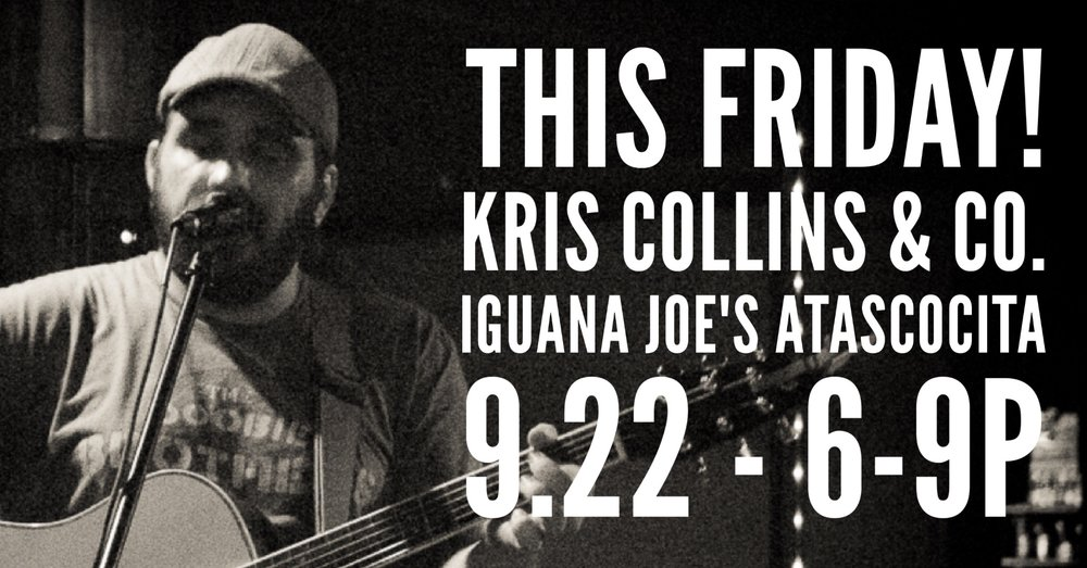 Last minute show just added. Iguana Joe's in Atascocita, we're coming to you Friday night from 6-9! Bring ten friends and we'll get to know each other. KC