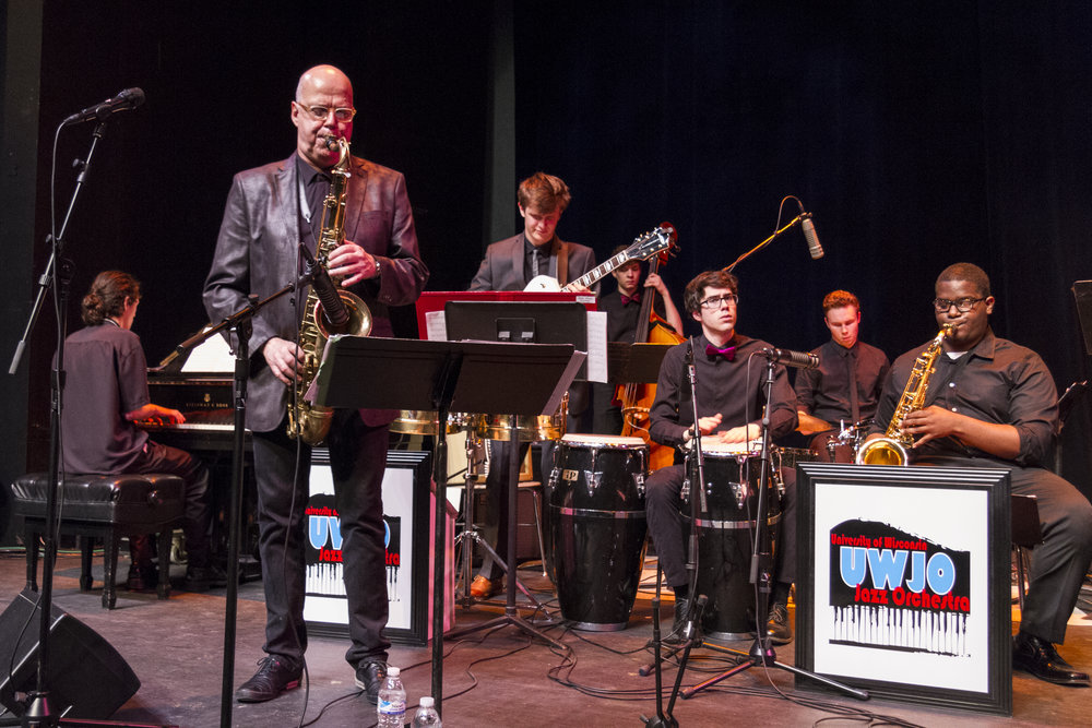 2016 UW Honors Jazz Band performance with saxophonist Bob Sheppard