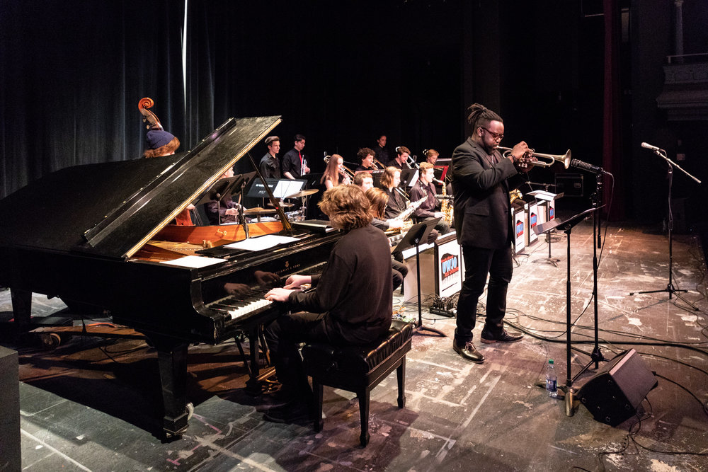 2018 UW Honors Jazz Band guest trumpeter Marquis Hill (Concord Records)