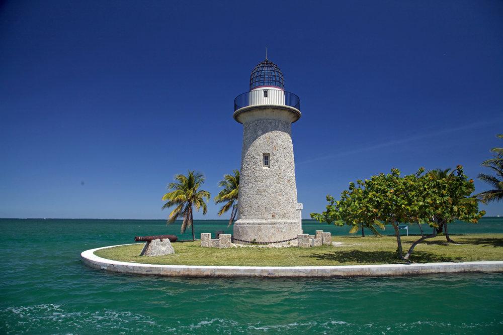 Ornamental lighthouse on Boca Chita Key. Park visit  #54 .