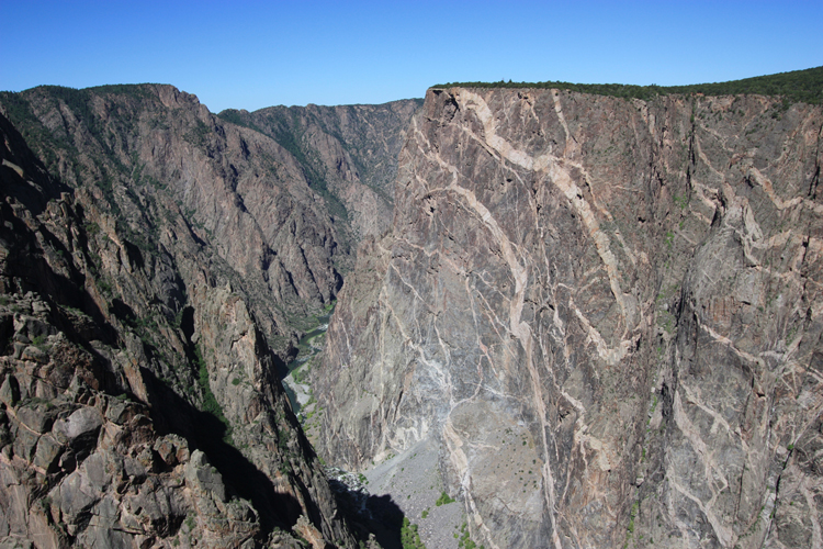 Marbled Wall of Black Canyon of the Gunnison