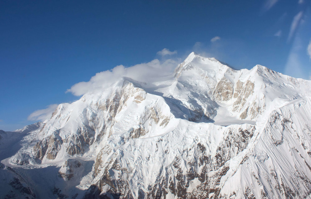 Denali shot from our Cessna at 11,000 feet.