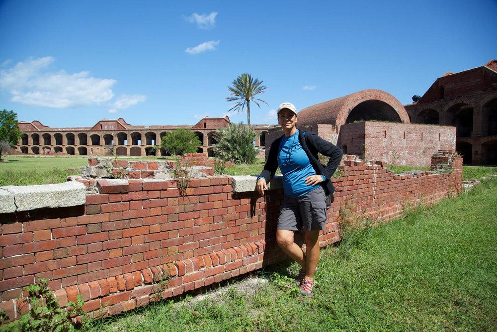 Terry trekking Tortugas. Park visit  #53 .