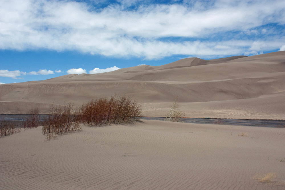 Sand dunes and Medano Creek