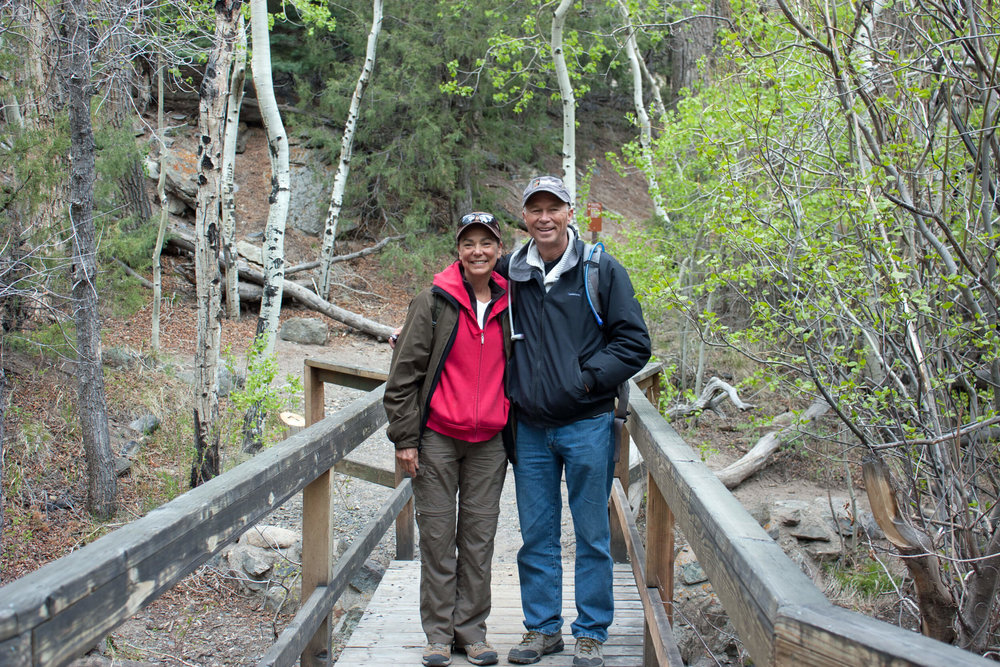 Trekking the Mosca Pass trail during our  25th  park visit.