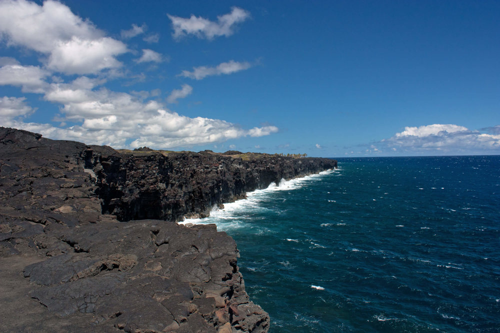 Park Coastline at the end of the Chain of Craters Road