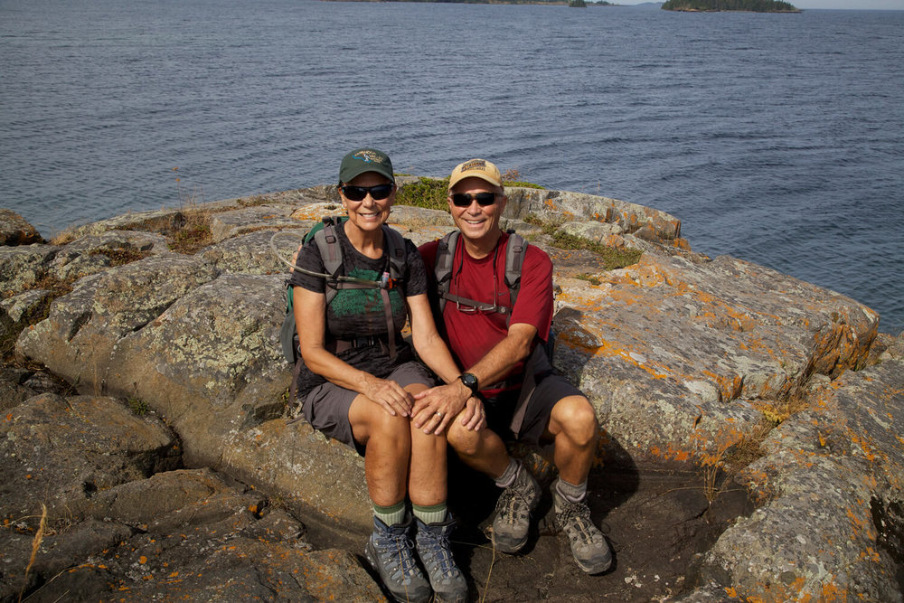 The Scoll Memorial Trail ends at Scoville Point. A delightful hike taken during our  56th  park visit!