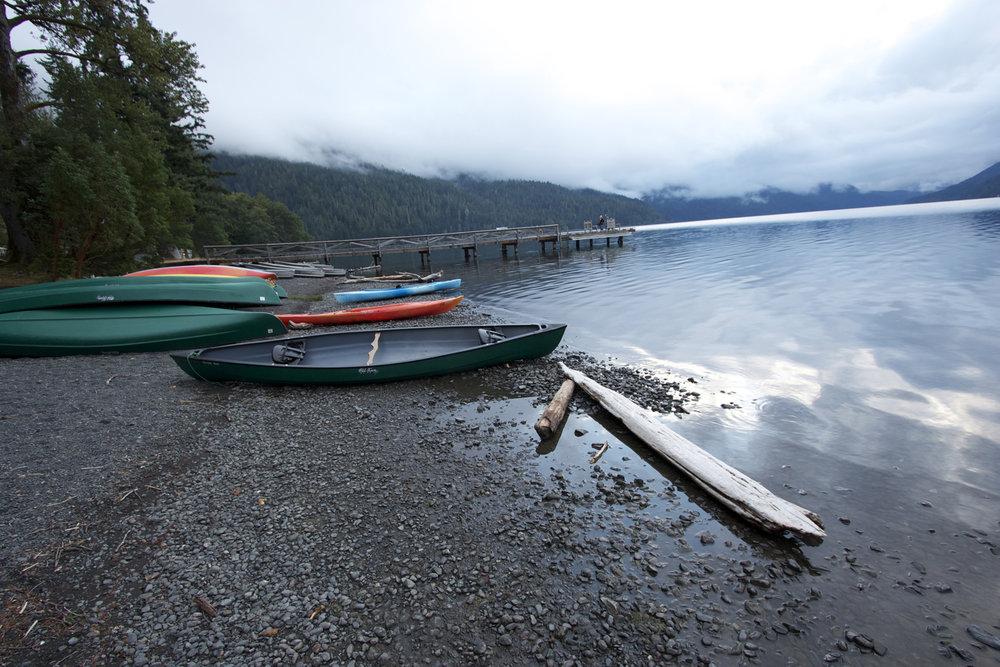 Lake Crescent Lodge canoes