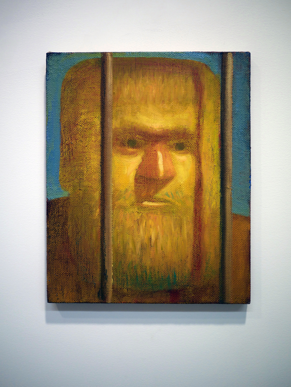 "Nate Meade.  Beard Bars . oil on linen. 12"" x 15"". 2013."