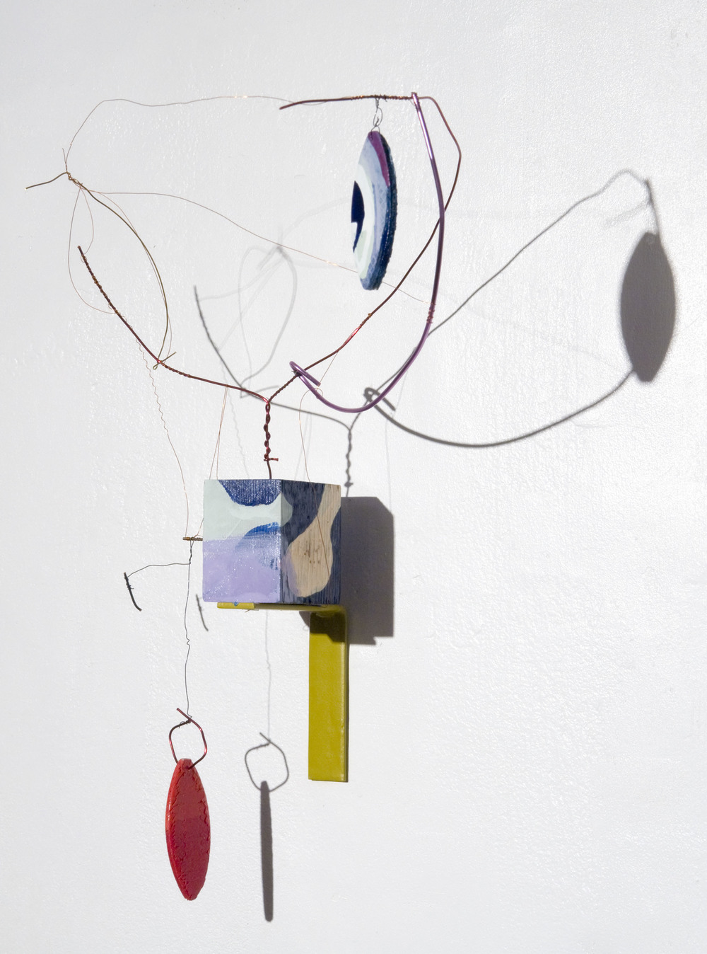 Maureen Cavanaugh.  Electric Orbit . Wire,wood, enamel paint. 14 inches x 10 inches. 2013.