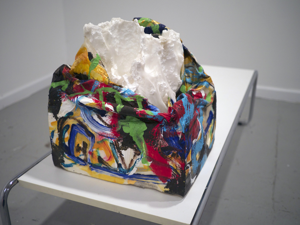 Matt Miller.  Untitled.  paint and melted polystyrene. 2012.