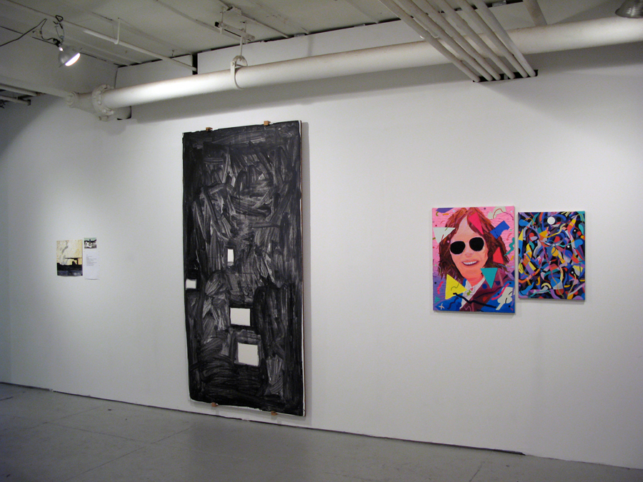 Installation View. Nellie Bridge, Jim Lee and Justin Craun.