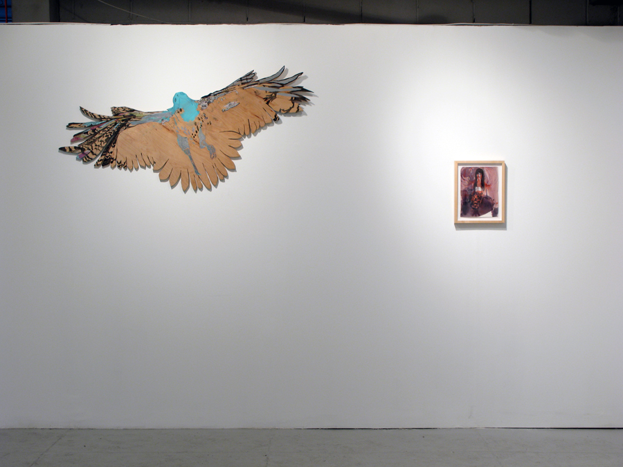 Installation View. Gina Magid and Brad Kahlhamer.