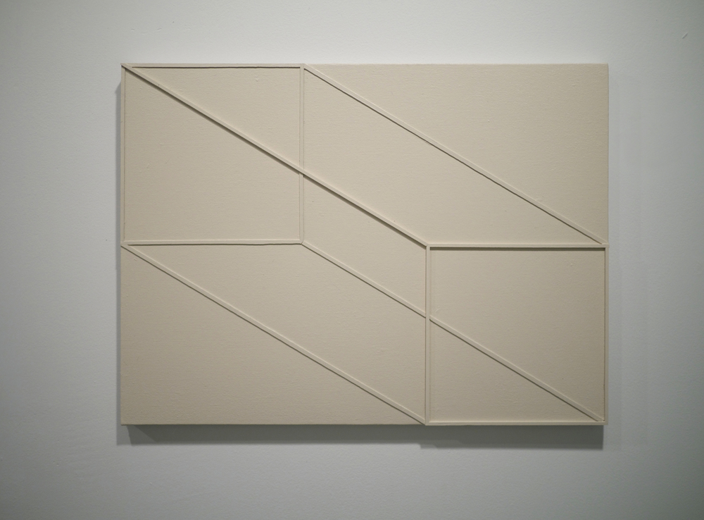 Stretched Cube . Acrylic on canvas. 18 x 24 inches. 2013.
