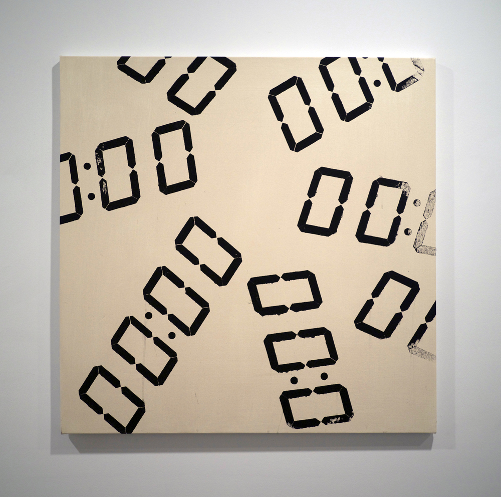 Path of a Decision . Acrylic on canvas. 34 x 34 inches. 2013.