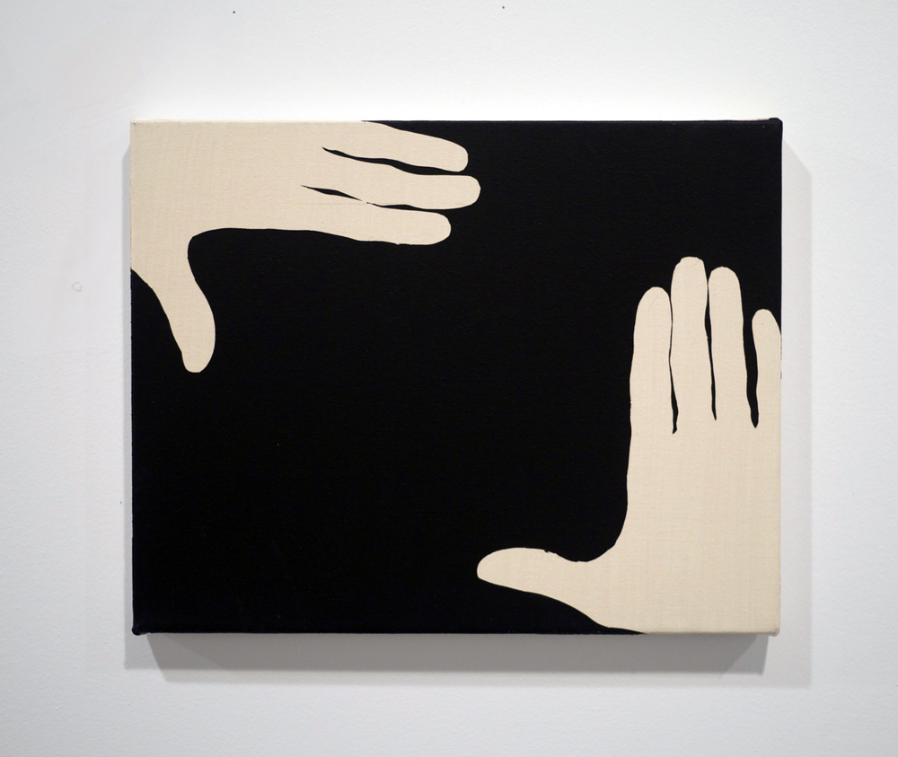 The Auteur . Acrylic on canvas. 14 x 18 inches. 2013.